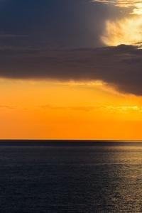Horizon Sea Sky Clouds 4k