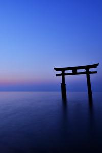 Horizon Sunset Blue Sea