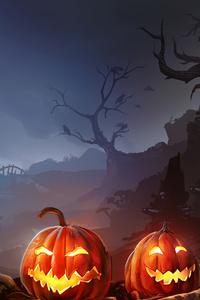 Horror Pumpkins Halloween 4k