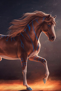 320x480 Horse Digital Art