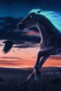 Horse Magic Moon Digital Art