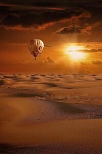 1080x1920 Hot Air Balloon Desert
