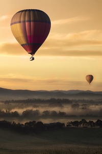 2160x3840 Hot Air Balloons Floating 5k