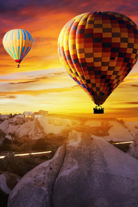 2160x3840 Hot Air Balloons Over Goreme 4k