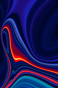1080x2280 Hot Glowing Lines 4k