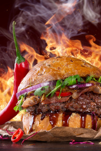 480x800 Hot Spicy Burger