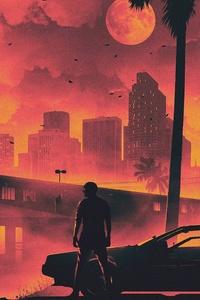 Hotline Miami Game Retro Style Dark Life Cityscape 5k