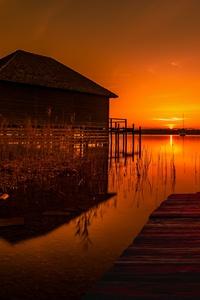 House At Pier Lake