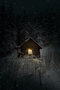 540x960 House In Woods Winter Cold