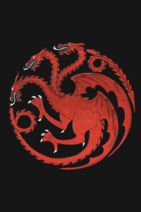 House Targaryen Dragon Game Of Thrones Dragon Minimalism