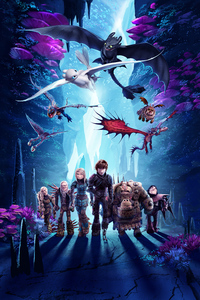 1080x2160 How To Train Your Dragon 3 Key Art 5k