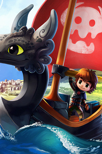 1125x2436 How To Train Your Dragon And Wind Waker Crossover 4k