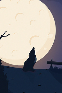 1242x2688 Howling Nights Wolf 5k