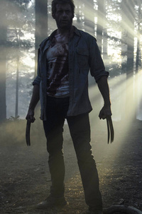 240x320 Hugh Jackman As Wolverine In Logan