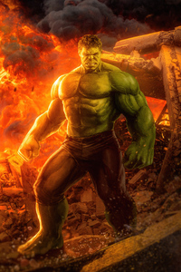480x854 Hulk 2020 Artwork 4k