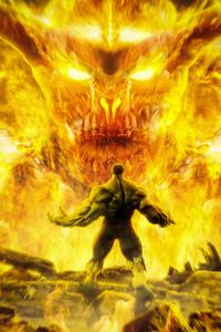 320x480 Hulk 4k Artwork 2020
