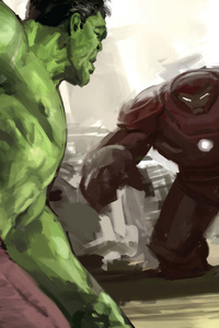 Hulk And Iron Hulkuster Artwork