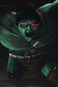 1280x2120 Hulk Angry 4k