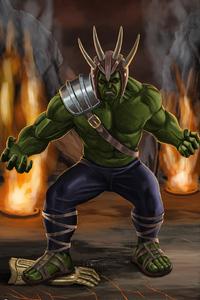 480x800 Hulk Angry Artwork