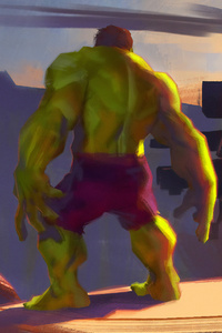480x854 Hulk Art Sunset