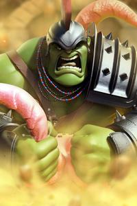 320x480 Hulk Artwork 4k Game