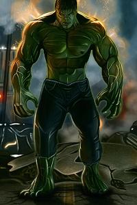 Hulk Between Flames