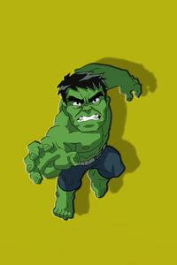 640x1136 Hulk Chibbi Minimal 4k