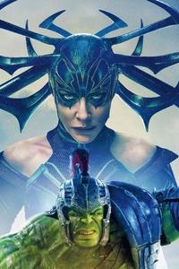 Hulk Hela In Thor Ragnarok