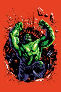 360x640 Hulk Illustration 4k