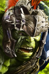 320x480 Hulk In Thor Ragnarok 8k Artwork