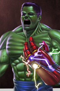 1080x1920 Hulk Infinity Gauntlet