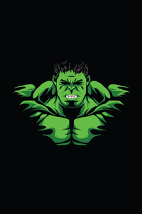 1080x1920 Hulk Minimal Design