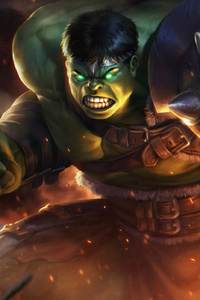 1080x2280 Hulk New Art