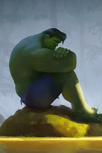 1440x2560 Hulk Not Easy Being Green