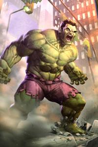 1440x2560 Hulk Paint Art