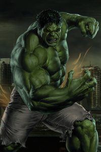 2160x3840 Hulk Smash 4k Art
