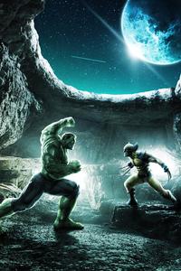 1080x1920 Hulk Vs Wolverine War 4k
