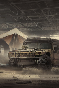 Hummer Digital Art Scifi