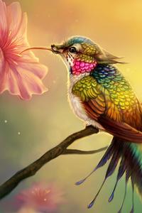 Hummingbird Fantasy Abstract Fractal