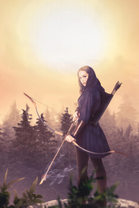 Huntress Girl 4k