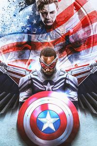 1280x2120 I Am New Captain America 5k