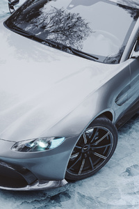 720x1280 Ice Cold Aston Martin Vantage Front