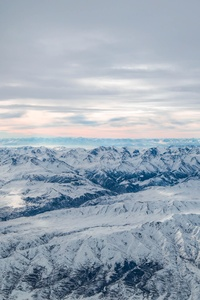 1440x2560 Ice Covered Mountains Aerial Photography 5k