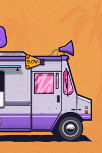 Ice Cream Truck Minimal 4k