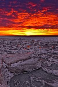 1080x2160 Ice Glow Red Sky 5k