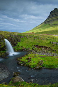 1080x2280 Iceland Mountains Waterfalls Kirkjufell 5k