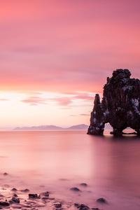1440x2560 Icleand Midnight Sunset 5k