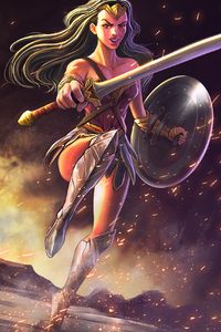 Illustration Of Wonder Woman