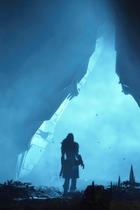 2160x3840 In Cave Horizon Zero Dawn 4k