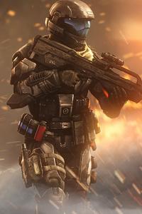 1440x2960 Incendiary Halo 4k
